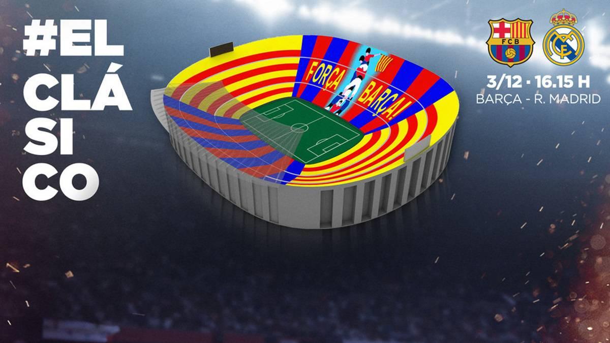 Se conoció el mosaico que mostrará el Barcelona en el Clásico