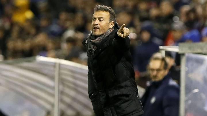 Luis Enrique, entrenador del Barcelona.