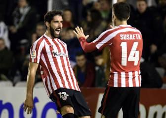 El Athletic se lleva ventaja con un doblete de Raúl García