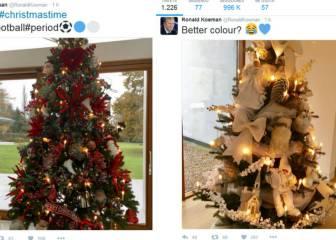 Los tuiteros obligan a Koeman a cambiar su árbol de Navidad