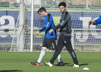 Piatti, con molestias en la rodilla, es duda frente al Atlético
