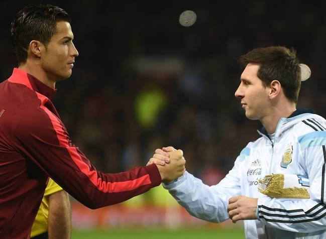 Cristiano y Messi con Portugal y Argentina.