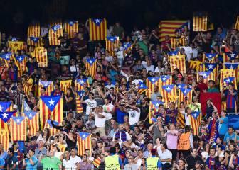 Grupos soberanistas repartirán 30.000 esteladas en el Camp Nou
