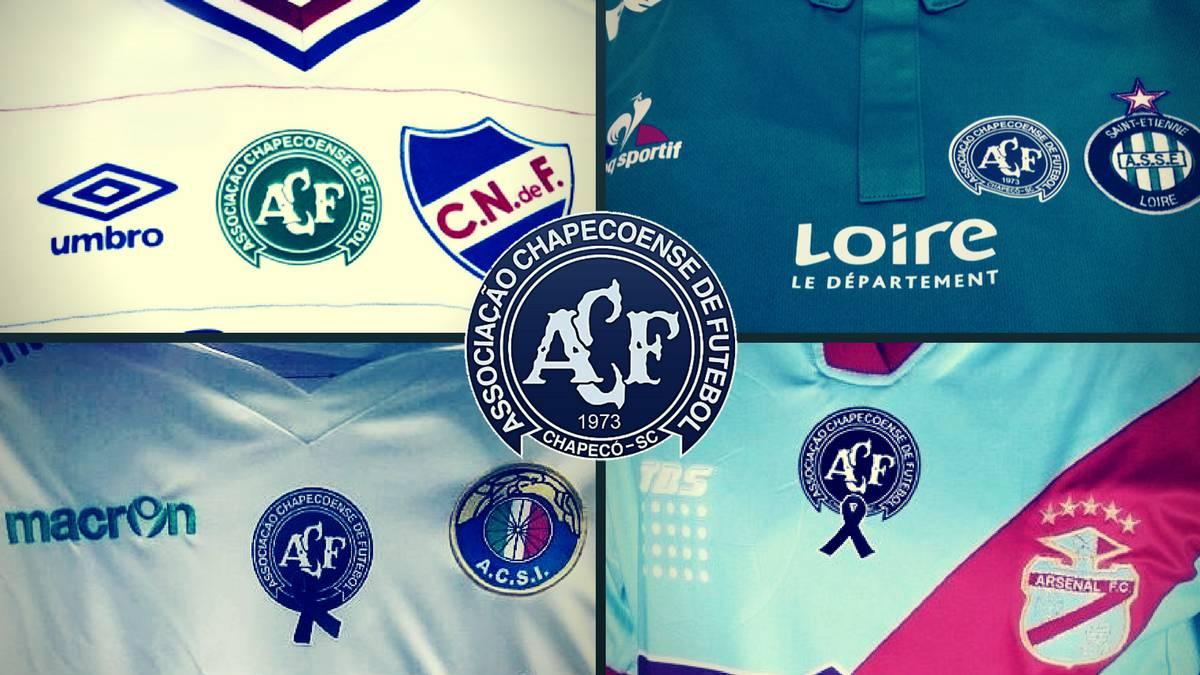 Conoce las camisetas que rinden tributo al Chapecoense de Brasil - AS  Colombia b4573c4fc0b51