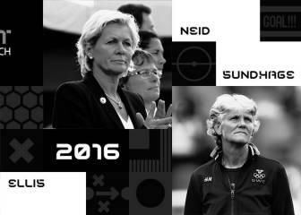 Ellis, Neid y Sundhage optan al premio de mejor entrenador