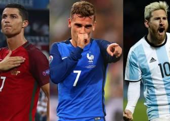 Cristiano, Griezmann y Messi, los finalistas al premio 'The Best'