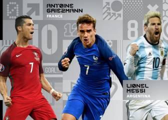 Los méritos de Cristiano, Messi y Griezmann en el 2016