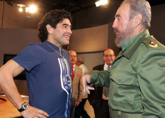 Maradona llega a Cuba para despedir a Fidel Castro