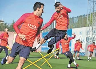 Piqué y Alba se entrenan y estarán ante el Real Madrid