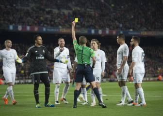 El 25% más de amarillas para el Madrid en Clásicos este milenio