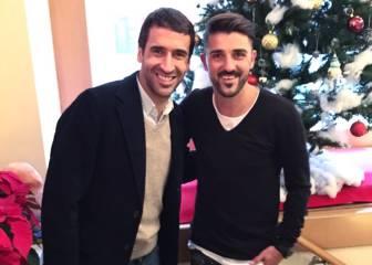 Raúl y Villa esperan un Clásico con goles desde Nueva York