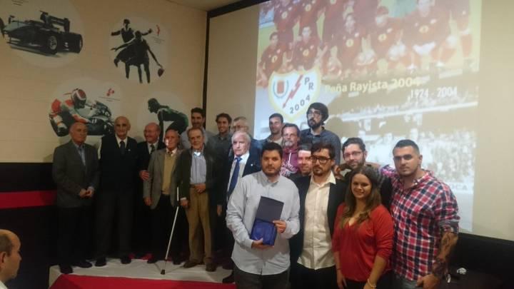 La Peña Rayista 2004 premió a Cobeño, Potele y Pepe Durán