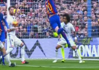 El Barcelona pidió penalti de Ramos y de Carvajal por mano