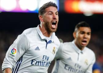 Sergio Ramos le marca al Barça el gol 75 de toda su carrera