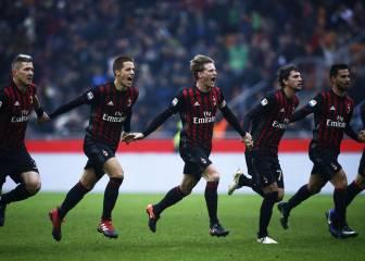 Lapadula da la victoria al Milán en el último suspiro