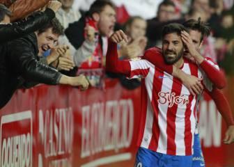 El Sporting recupera la sonrisa a costa de un frágil Osasuna