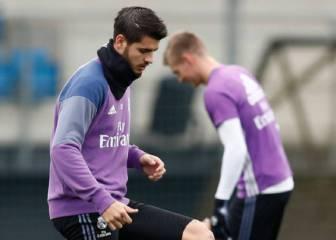 Morata, Danilo y Coentrao vuelven a entrenar con el grupo