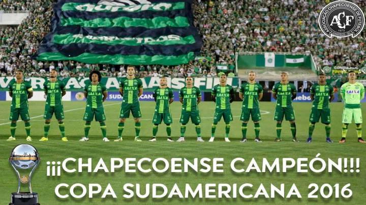 Oficial: la Conmebol declara a la Chapecoense campeona de la Copa Sudamericana 2016