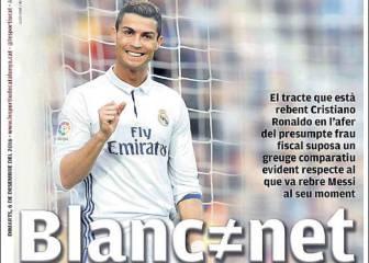 """La prensa de Barcelona apunta a Cristiano: """"Blanco no es limpio"""""""