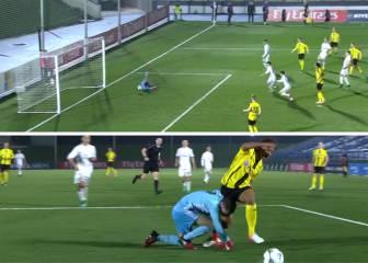 Un doble error de Luca Zidane le costó el partido al Juvenil A