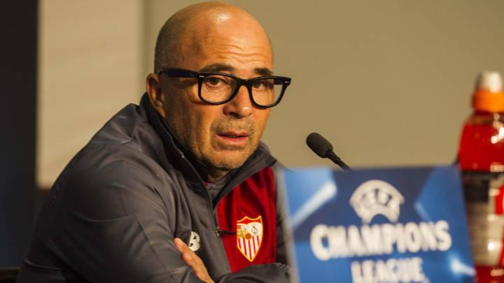 Jorge Sampaoli, técnico del Sevilla, valoró la clasificación a octavos de Champions League e hizo balance del difícil duelo disputado ante el Lyon que terminó en tablas