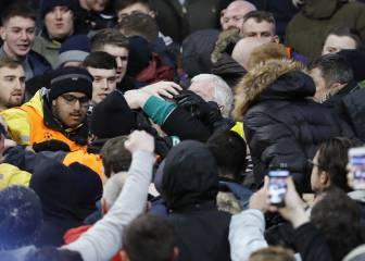 City-Celtic: arrestado un fan por lanzar una hamburguesa a un caballo de la policía