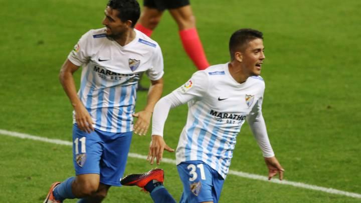 Fornals celebra el gol del empate ante el Sporting
