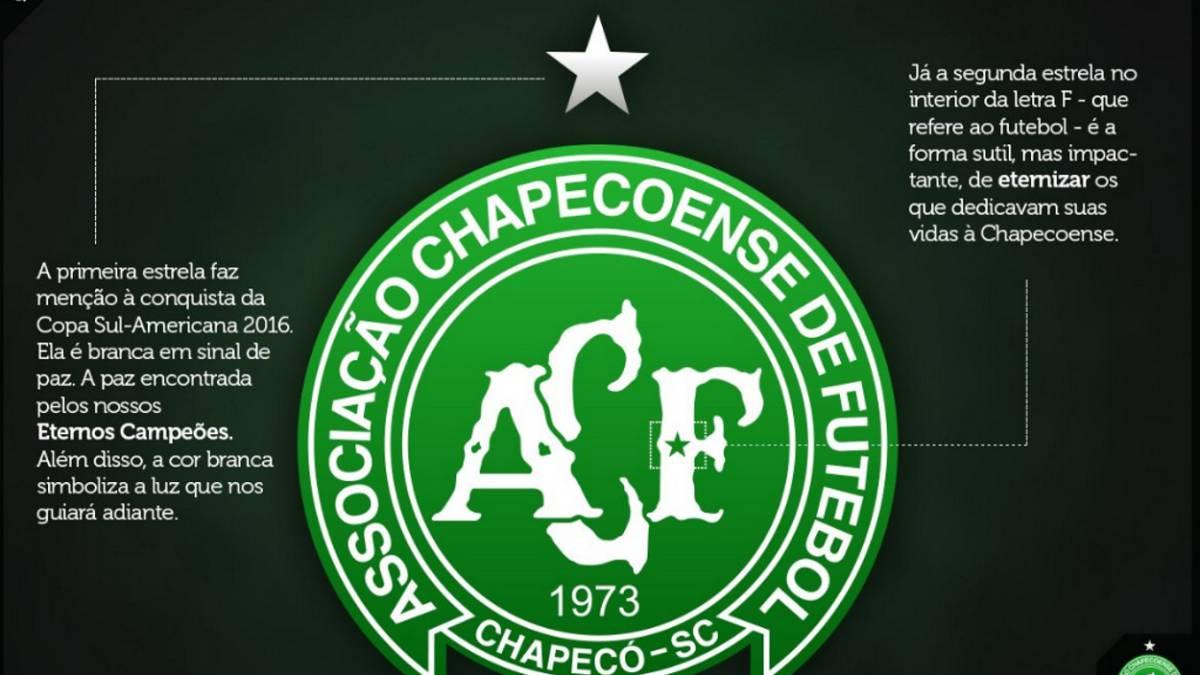 Chapecoense realizó emotiva modificación en su escudo