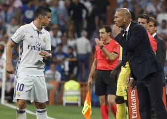 A Zidane le sale todo: Benzema, Casemiro y James, recuperados