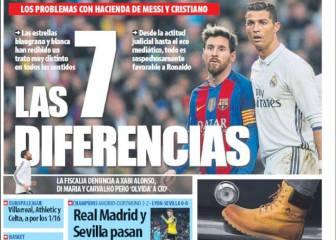 Prensa catalana: más sobre los agravios con Messi respecto a CR