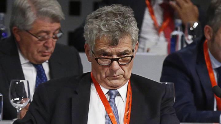 Ángel María Villar, presidente de la Real Federación Española de Fútbol.