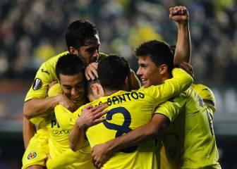 Santos Borré juega 11 minutos en clasificación de Villarreal