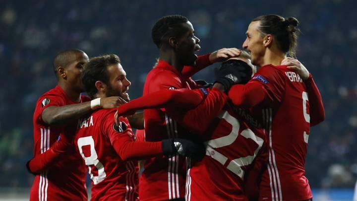 Los de Jose Mourinho necesitaban un empate para pasar de ronda y sendos goles de Mkhitaryan e Ibrahimovic en la segunda parte le dieron una cómoda victoria para entrar en el sorteo