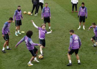 Benzema, ausente en el entrenamiento del Madrid