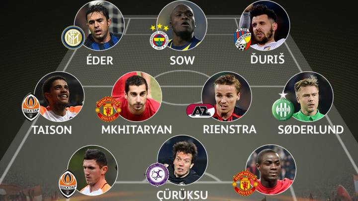 Once ideal de la última jornada de Europa League.