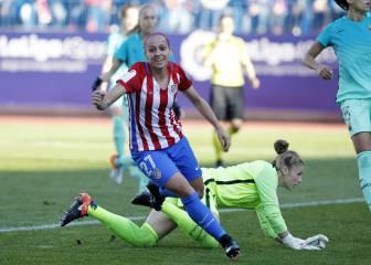 Las imágenes del Atleti-Barça femenino en el Calderón