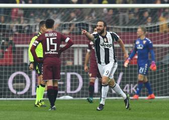 Un doblete de Higuaín doblega a un valiente Torino en el derbi