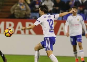 El Zaragoza se rehabilita con un doblete de Ángel al Oviedo