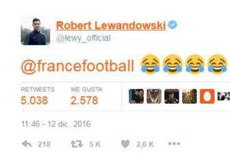 Robert Lewandowski se ríe del Balón de Oro