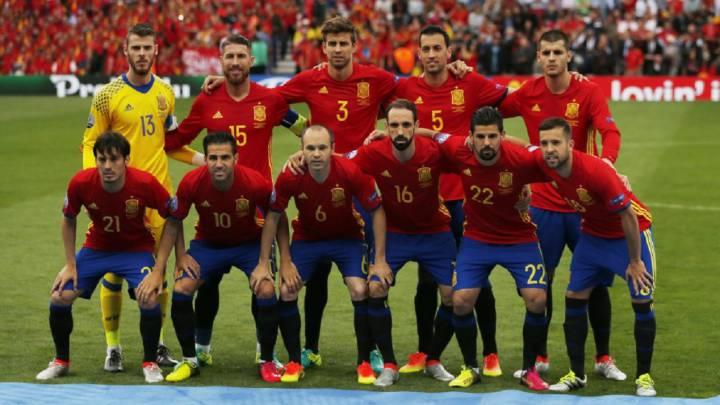 El once de España en la Eurocopa contra la República Checa.