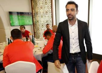 Xavi, anfitrión de lujo del Barcelona en Doha: