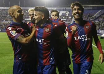 El Levante gana y es más líder y el Rayo sigue sin despegar