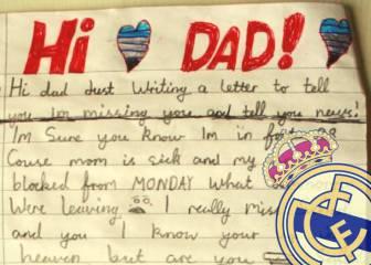 La petición madridista de un niño escocés a su papá fallecido