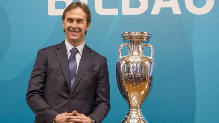 Lopetegui  con la Eurocopa