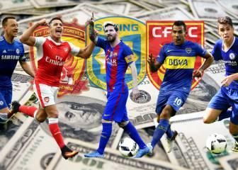 China amenaza de nuevo con sus millones: Messi, Tévez, Alexis...