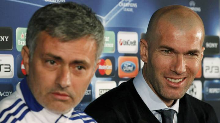 El portugués Jose Mourinho y el francés Zinedine Zidane, en una imagen de archivo con el Real Madrid.