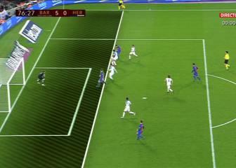 El primer gol oficial de Alcácer fue en fuera de juego