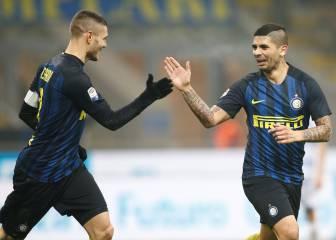 Icardi y Banega acercan el Inter a la zona Champions