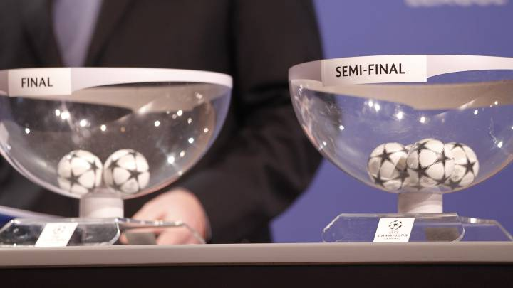 Imagen del sorteo de la Champions.