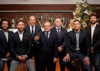 El posado navideño del Madrid: Florentino, Zidane, Ramos, Laso...